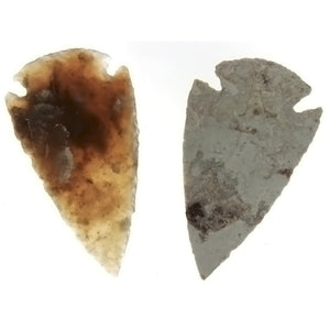 COLLECTIBLE NATURAL AGATE 2 IN ARROWHEAD
