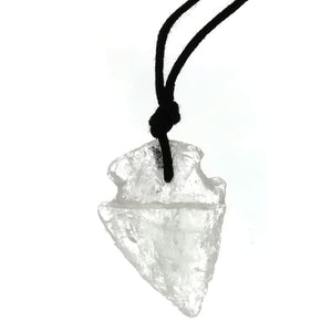 NECKLACE CRYSTAL QUARTZ 30 MM ARROWHEAD