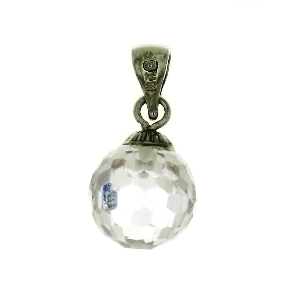 CZ BALL CLEAR 10 MM PENDANT