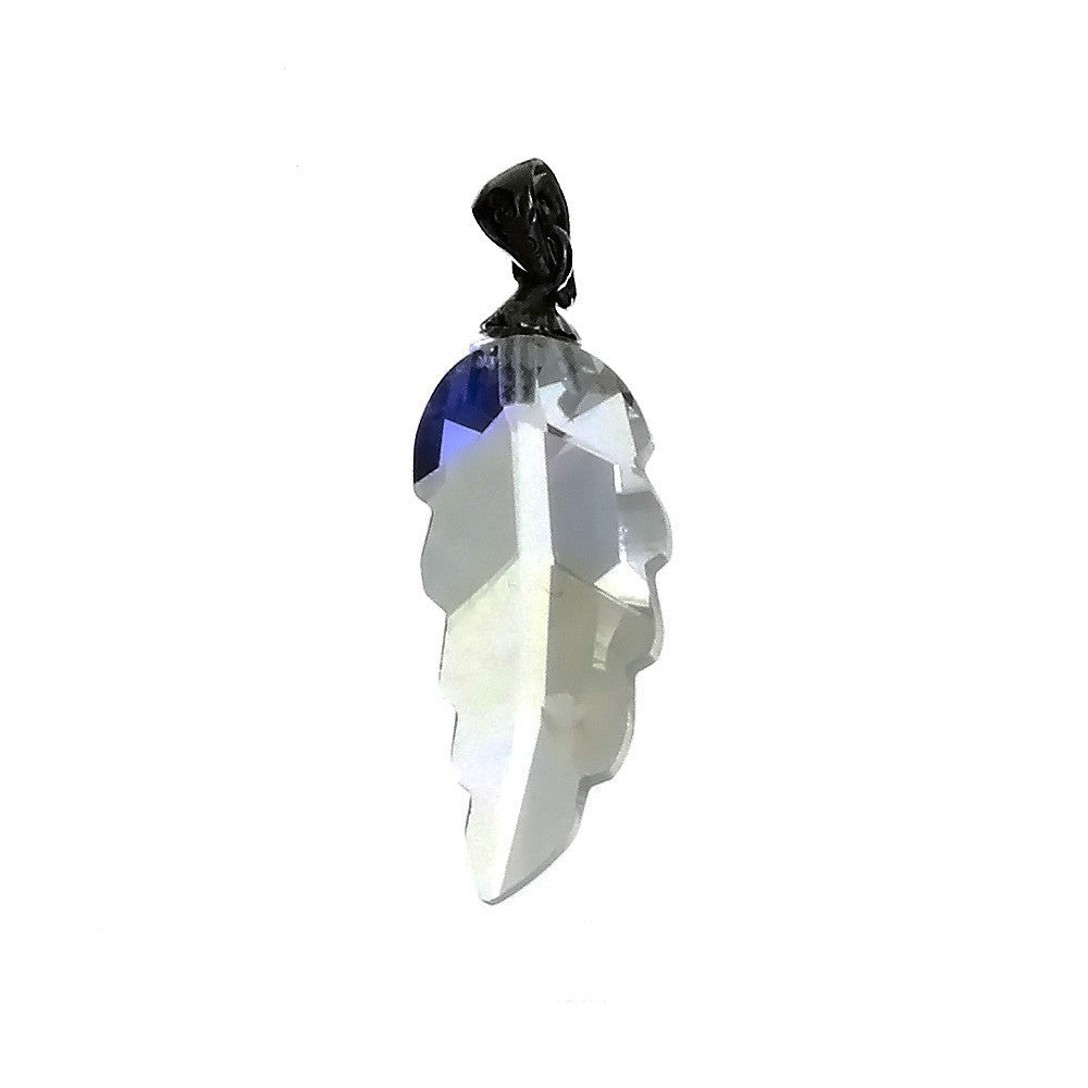 CZ Leaf Clear 27 mm Pendant