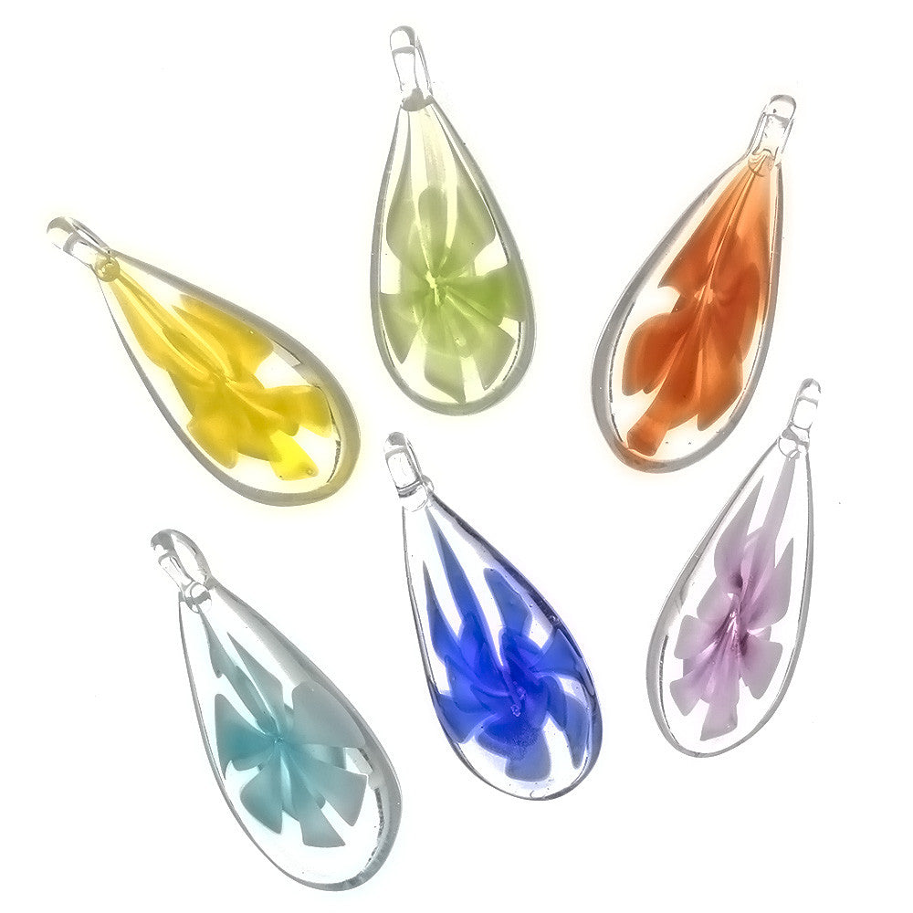 GLASS TEARDROP 40 MM PENDANT