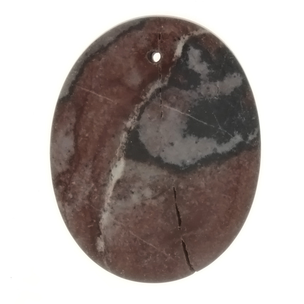GEMSTONE JASPER SUN ROCK OVAL 35 X 45 MM PENDANT