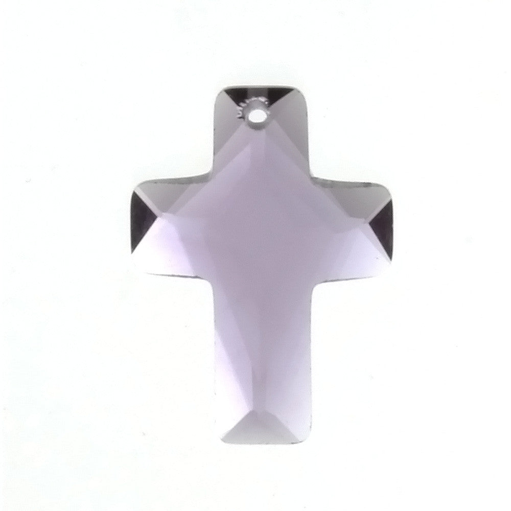 CZ CROSS PURPLE 13 X 18 MM PENDANT