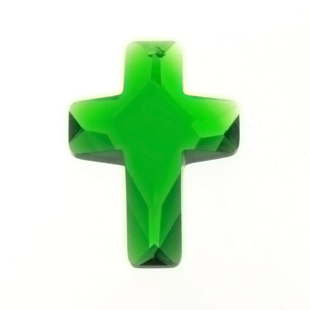 CZ CROSS GREEN 18 X 25 MM PENDANT