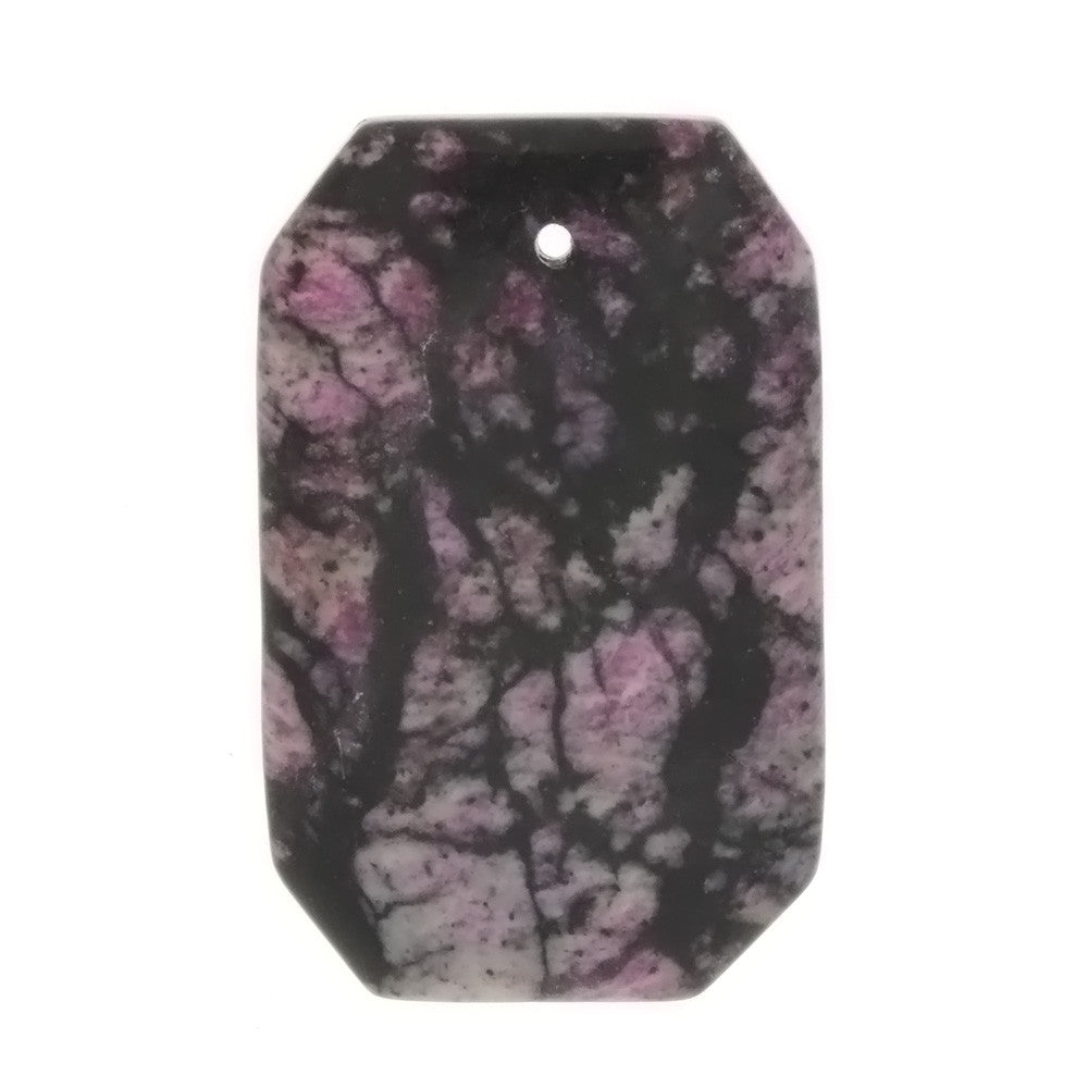 GEMSTONE JASPER SUGILITE RECTANGLE 28 X 35 MM PENDANT