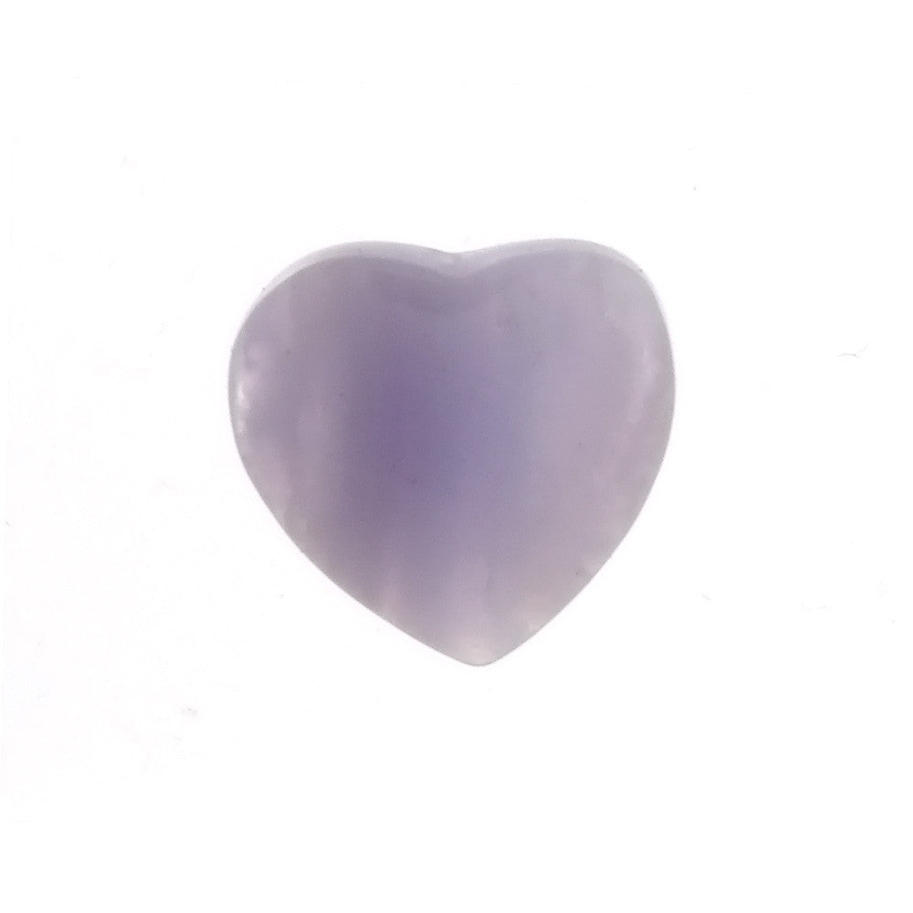 GEMSTONE AGATE BLUE LACE HEART 15 MM PENDANT