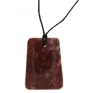 CORDED GEMSTONE CRAZY LACE AGATE LADDER NECKLACE