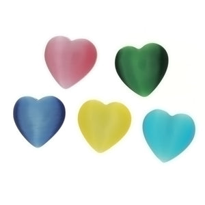 GLASS DALE STONE HEART 20 MM PENDANT (10)