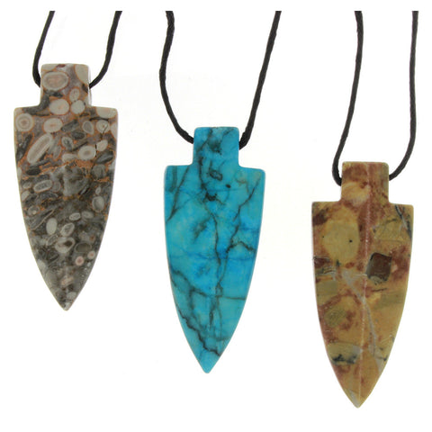 NECKLACE GEMSTONE 44 MM ARROWHEAD