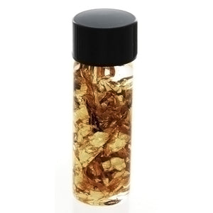HOBBY GLASS VIAL W/ 24K GOLD LEAF LARGE NOVELTY