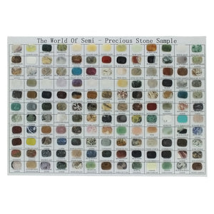 CUT GEMSTONE COLLECTION RECTANGLE 15 X 20 MM (143 PCS)