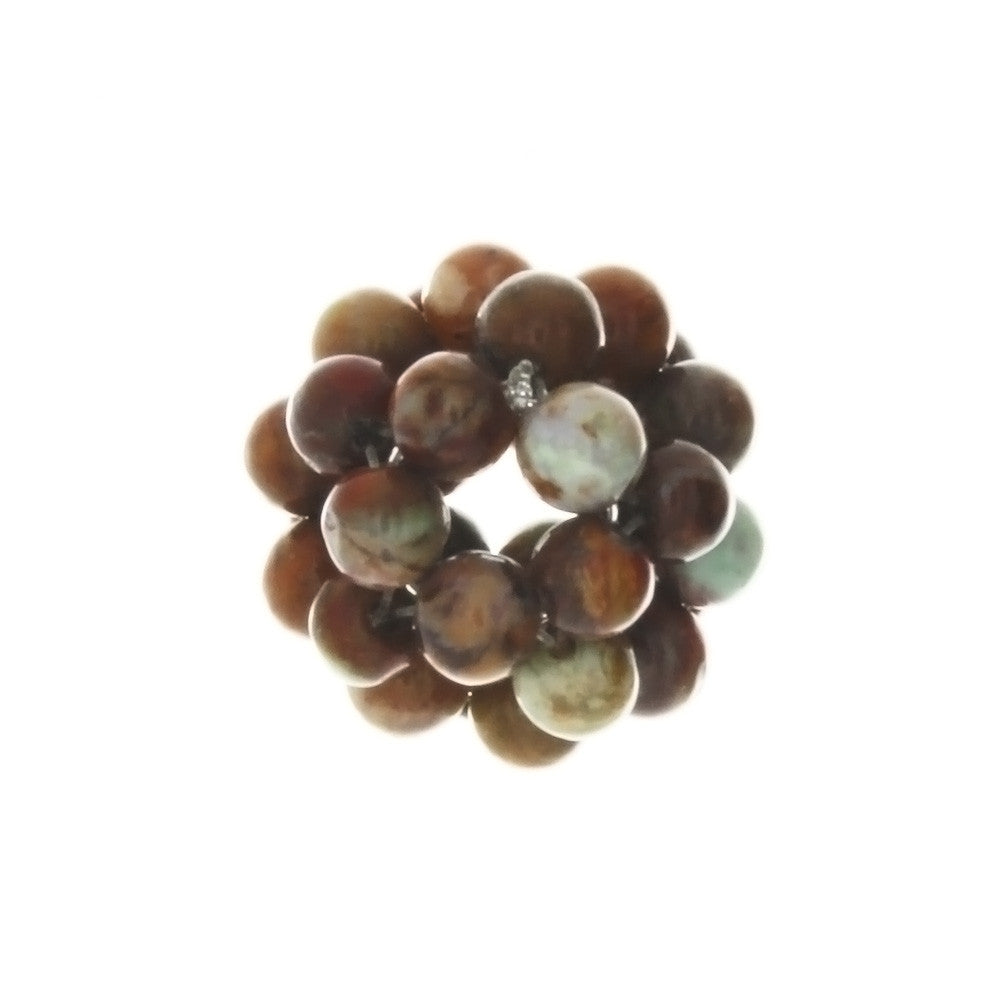 JASPER POPPY CLUSTER 4 X 18 MM LOOSE (1 PC)