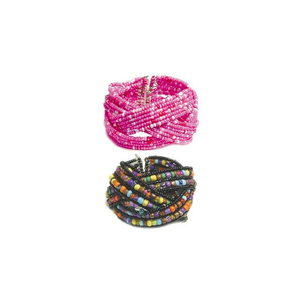 BRACELET ASSORTMENT WOVE SEED BEAD (6 BRACELETS)