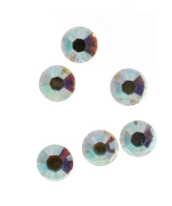 RHINESTONE QUARTZ ROUND FACETED GEMS (1 DOZ)