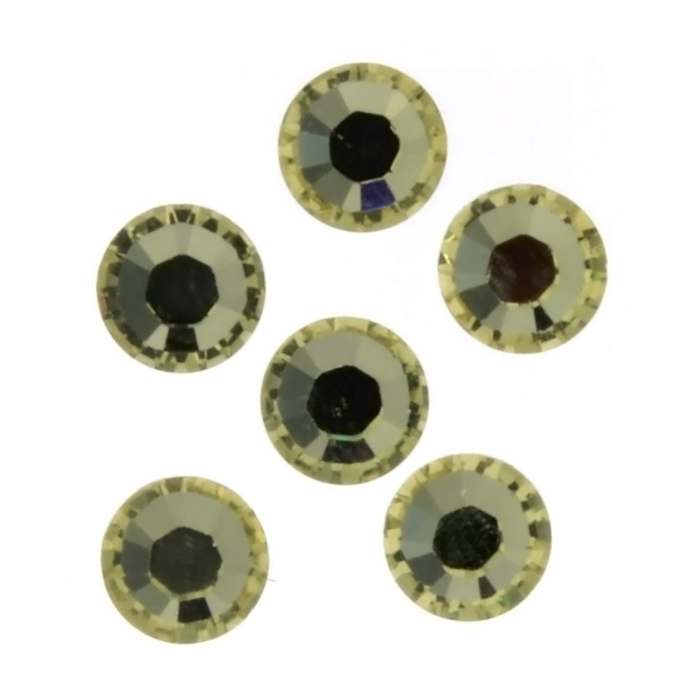 RHINESTONE CITRINE ROUND FACETED GEMS (1 DOZ)