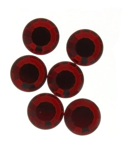 RHINESTONE RUBY ROUND FACETED GEMS (1 DOZ)