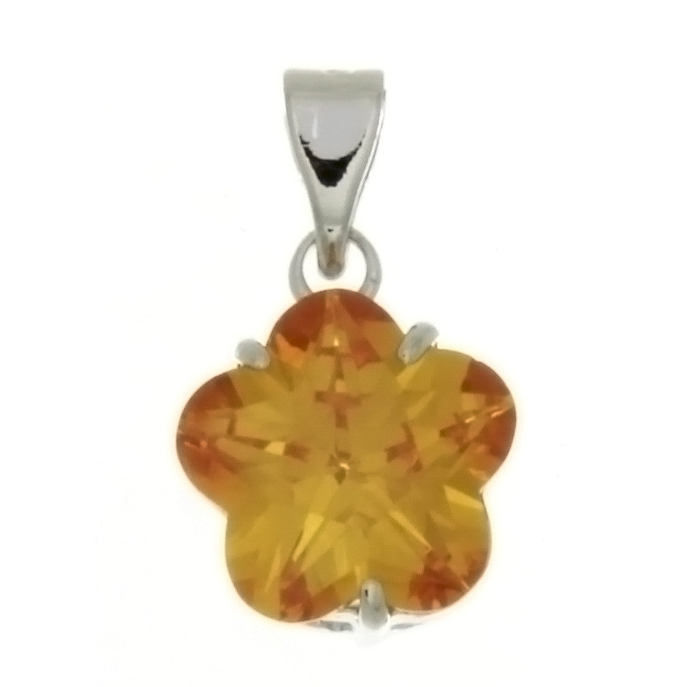CZ FLOWER YELLOW 10 MM PENDANT