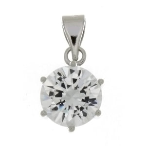 CZ Round Clear 10 mm Pendant