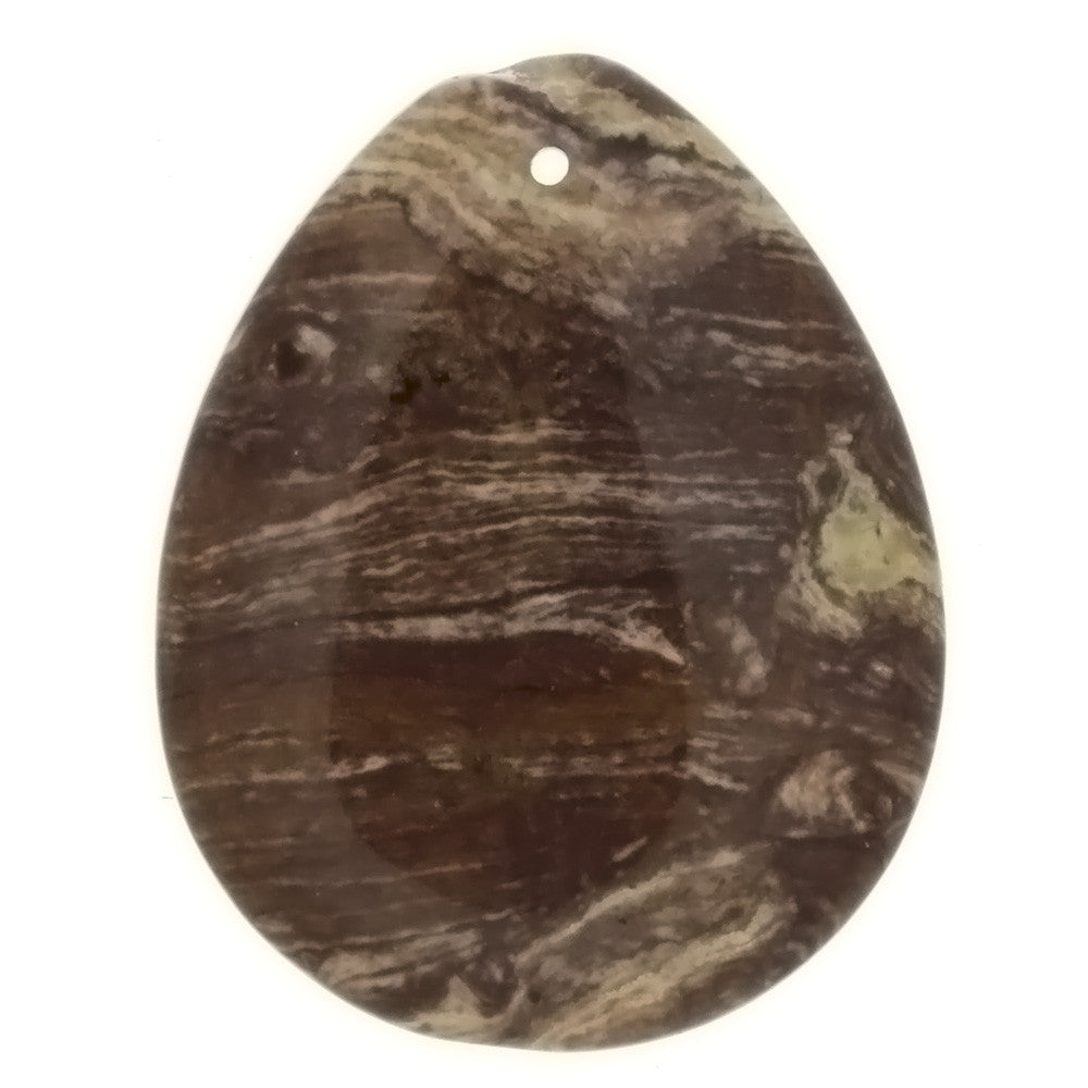 GEMSTONE JASPER SURREAL TEARDROP 35 X 45 MM PENDANT