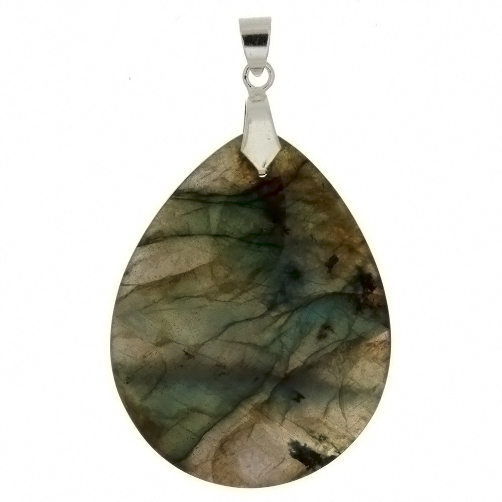 GEMSTONE LABRADORITE TEARDROP 35 X 45 MM PENDANT