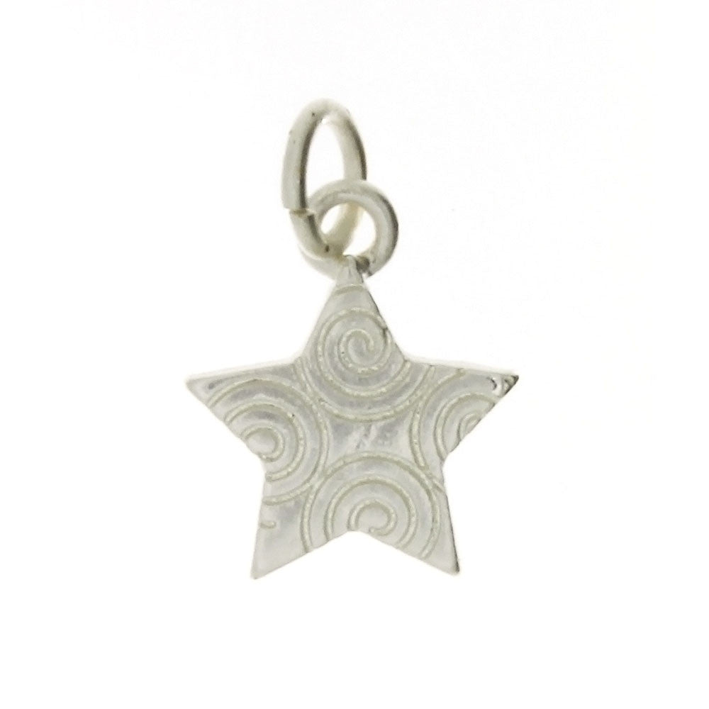 DESIGN STAR 13 X 16 MM BASE MATTE SILVER CHARM (1 DOZ)