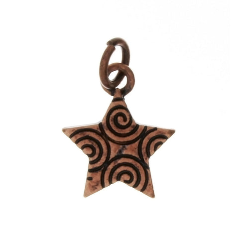 DESIGN STAR 13 X 16 MM BASE BURNISHED COPPER CHARM (1 DOZ)