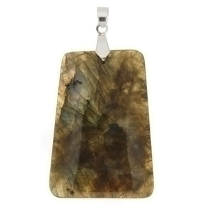 GEMSTONE LABRADORITE LADDER 30 X 40 MM PENDANT
