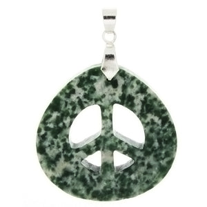 GEMSTONE AGATE TREE PEACE SIGN 39 MM PENDANT