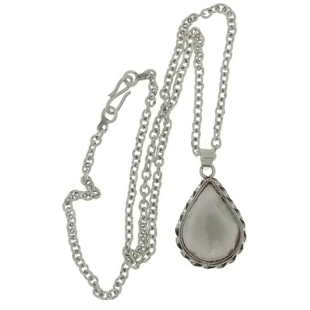 CHAIN CABOCHON TEARDROP 18 X 24 MM SS NECKLACE