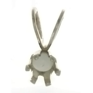 X GEM MOUNT ROUND 4 MM SS PENDANT