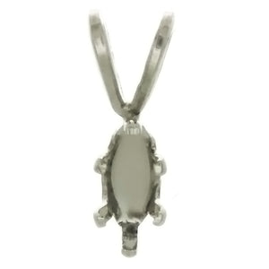 X GEM MOUNT MARQUISE 3 X 6 MM SS PENDANT