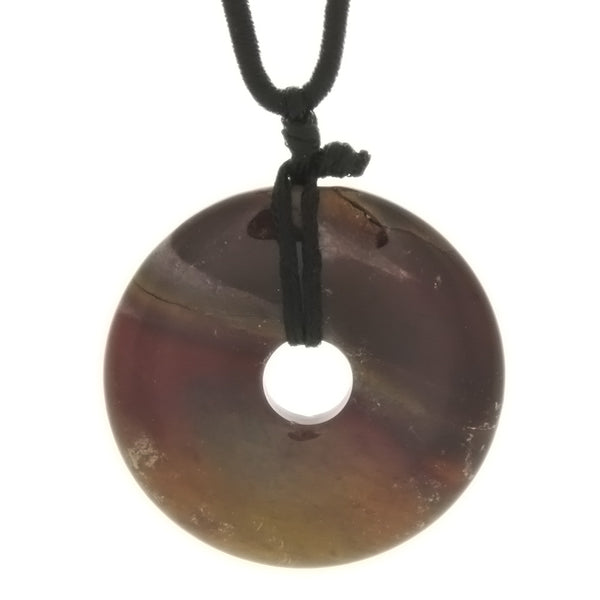 CORDED GEMSTONE VARIOUS DONUT NECKLACE