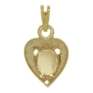 CABOCHON HEART 6 X 8 MM PENDANT