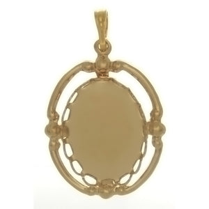 CABOCHON FRAMED 13 X 18 MM PENDANT