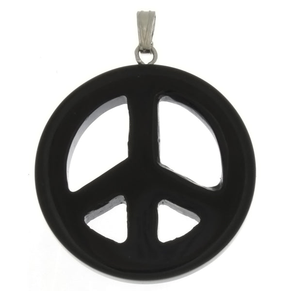 GEMSTONE VARIOUS PEACE SIGN 30 MM PENDANT