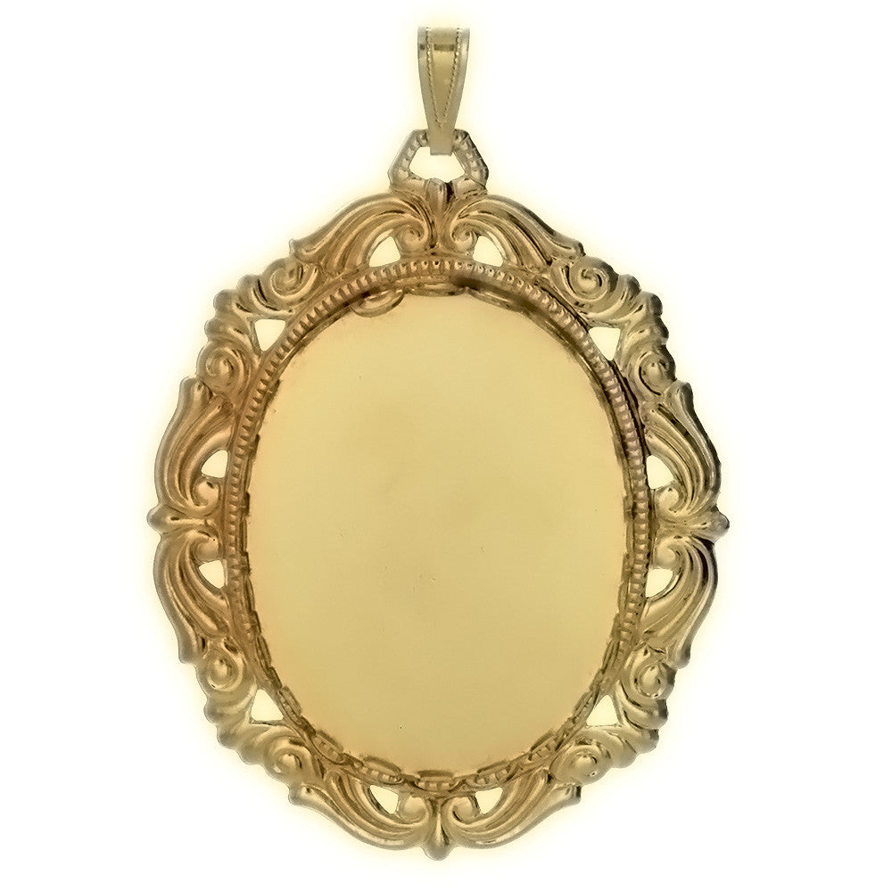 CABOCHON FRAMED 30 X 40 MM PENDANT
