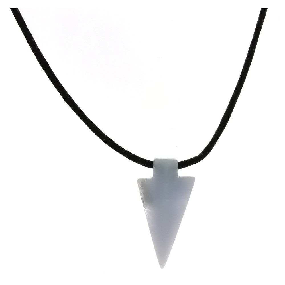 NECKLACE CHALCEDONY 30 MM ARROWHEAD