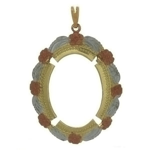 CABOCHON FRAMED 22 X 30 MM PENDANT