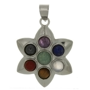 METAL CHAKRA LOTUS FLOWER 30 MM PENDANT