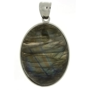 GEMSTONE LABRADORITE OVAL 30 X 40 MM PENDANT