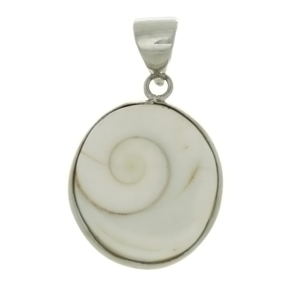NATURAL SHELL SHIVA COIN 20 MM PENDANT