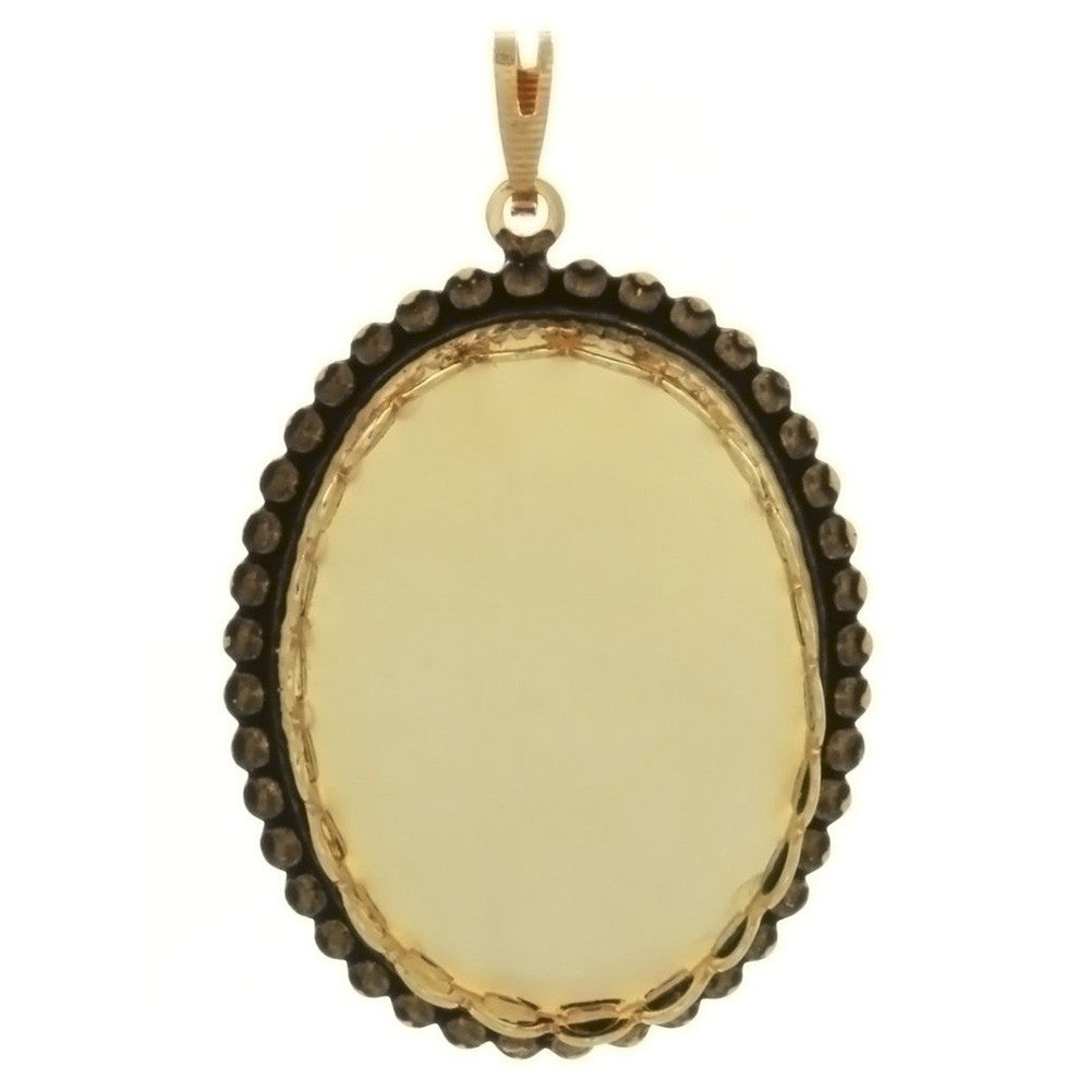 CABOCHON FRAMED BEAD 22 X 30 MM PENDANT