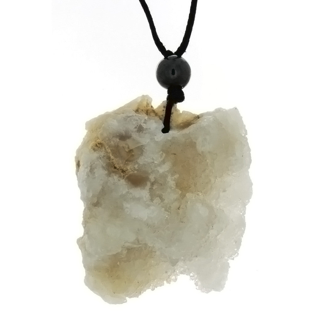 CORDED GEMSTONE AGATE DRUZY NECKLACE