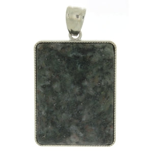 GEMSTONE RUBY ZOISITE RECTANGLE 30 X 40 MM PENDANT