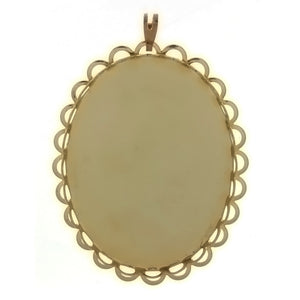 CABOCHON FRAMED LACE 30 X 40 MM PENDANT