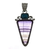 GEMSTONE FLUORITE TRIANGLE 45 MM PENDANT