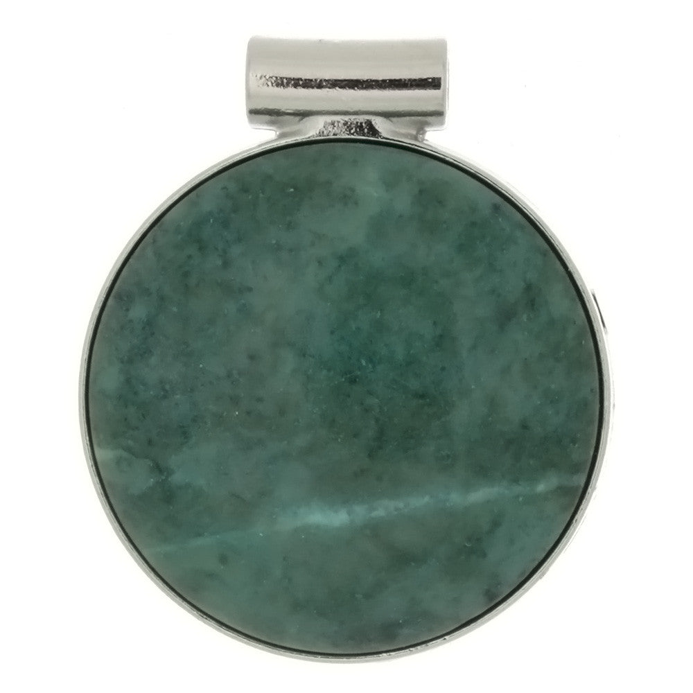 GEMSTONE JASPER BRAZILIAN RAINFOREST COIN 35 MM PENDANT