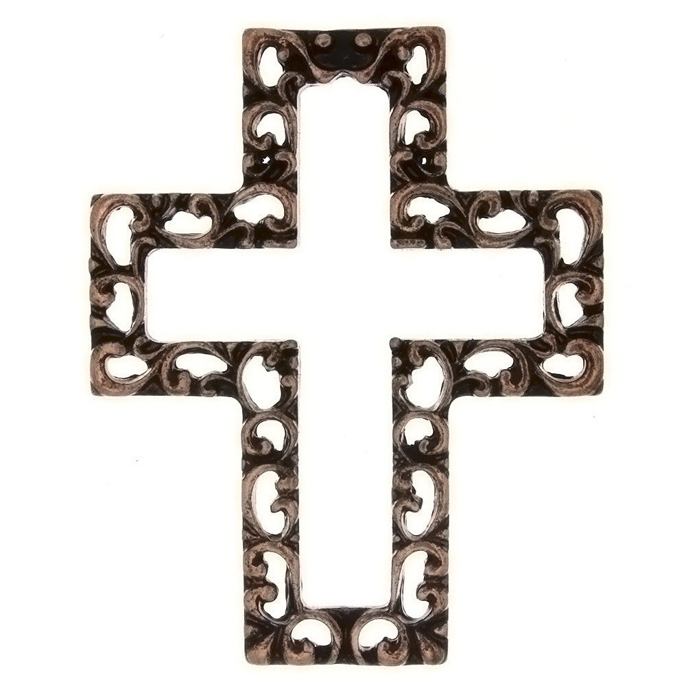 METAL CROSS COPPER CHARM