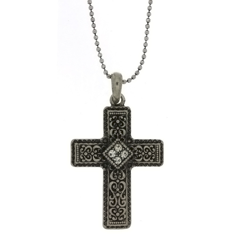 CHAIN CHARM CROSS NECKLACE