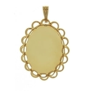 CABOCHON FRAMED LACE 13 X 18 MM PENDANT